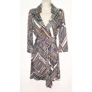 DVF Lindsey Silk Wrap Dress